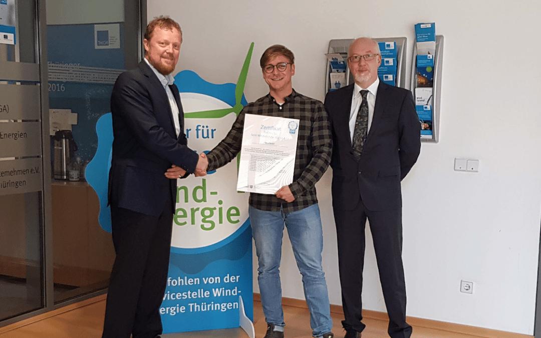 """iTerra energy erhält Zertifikat """"Partner für faire Windenergie"""" in Thüringen"""