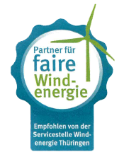 Siegel Partner für faire Windenergie für iterra energy