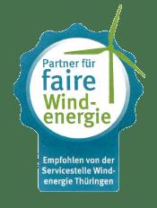 Siegel Partner für faire Windenergie für iterra energy