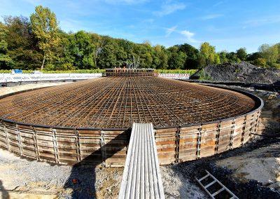 Stahlkonstruktion Fundament einer Windenergieanlage durch iTerra energy