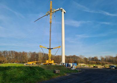 Montage Rotorblätter einer Windenergieanlag, iTerra energy GmbH